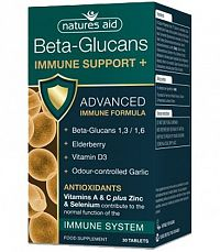 Natures Aid Beta-Glucans Immune Support+ 30 tbl