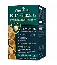 Natures Aid BETA-GLUCANS IMMUNE SUPPORT+ 90cps