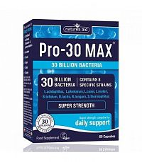 Natures Aid PRO-30 MAX -30 Billion Bacteria 8 strain Probiotic 60cps