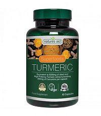 Natures Aid TURMERIC 8200mg - 95% čistý extrakt z kurkumy 60cps