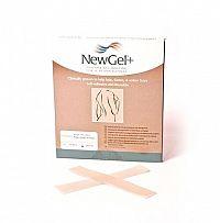 NewGel+ silikónový priehľadný prúžok NG-301S rozmer 2,5x15,2cm, 1x4 ks