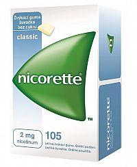 Nicorette Classic Gum 2mg liečivé žuvačky 105ks
