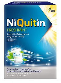 NiQuitin Freshmint 4mg liečivé žuvačky 100ks