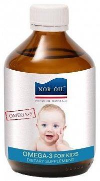 NOR-OIL Omega 3 Panenský lososový olej NATURAL 300 ml