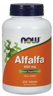 Now Foods Alfalfa 650mg 250 tabliet