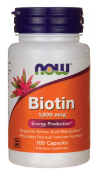 Now Foods Biotin 1000mcg 100 kapsúl