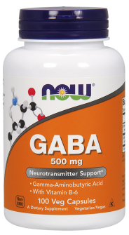 Now Foods GABA 500mg 100 veg kapsúl