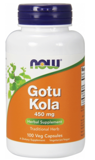 Now Foods Gotu Kola 450mg 100 kapsúl