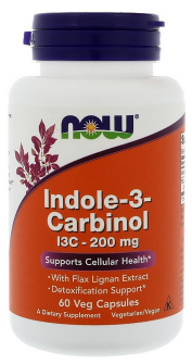 Now Foods Indole-3-Carbinol I3C 200mg 60 veg kapsúl