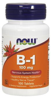 Now Foods Vitamín B1 100mg 100 tabliet