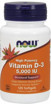 Now Foods Vitamín D3 5000 IU 120 softgels