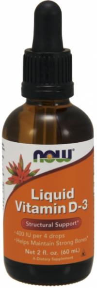 Now Foods Vitamin D3 s dávkovačom 400 IU (535 dávok) 60ml
