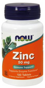 Now Foods Zinok 50mg 100 tabliet