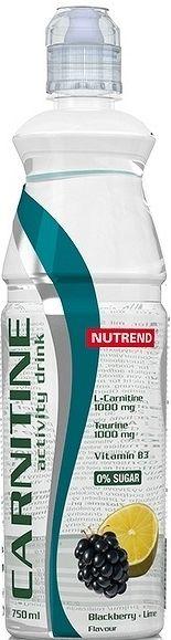NUTREND CARNITIN ACTIVITY DRINK bez kofeínu 750ml, ostružina+limetka