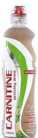 NUTREND CARNITIN DRINK 750 ml, s kofeínom, zelený čaj