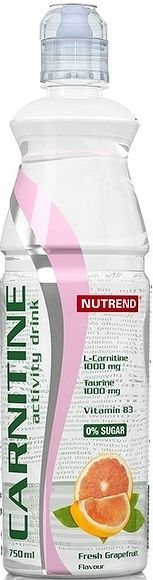 NUTREND CARNITIN DRINK bez kofeínu 750ml, fresh grep