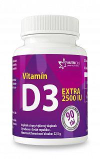 NUTRICIUS Vitamín D3 Extra 2500 IU 90ks