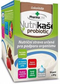 Nutrikaša probiotic - s čokoládou BOX 10x60 g, 1x1 set