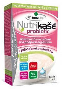 Nutrikaša probiotic s jahodami a vanilkou 3x60g