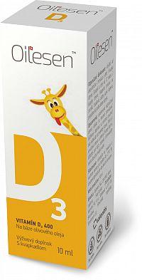 OILESEN Vitamín D3 400 kvapky 10ml