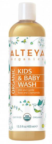 Organický detský sprchový gél Alteya