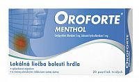 Oroforte menthol 20 pastiliek