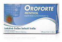 OROFORTE menthol pas ord 1x20 ks