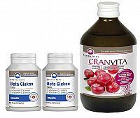 Pharma Activ BETA GLUKAN Forte AKCIA 2x60ks + CRANVITA 500ml set