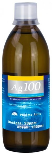 Pharma Activ Koloidné striebro Ag 100 20 ppm 1000 ml