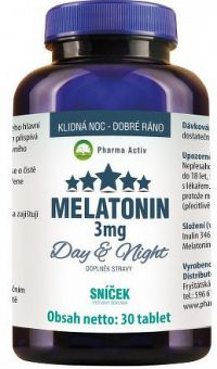 Pharma Activ MELATONÍN Day&Night SNÍČEK 3 mg tbl 1x30 ks