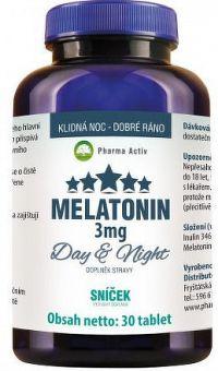 Pharma Activ MELATONÍN Day&Night SNÍČEK 3 mg tbl 1x30 ks