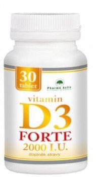 Pharma Activ Vitamin D3 FORTE 2000 I.U. tbl 1x30 ks