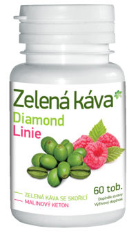 Pinia Pharmaceutical Zelená káva Diamond Linie 60 tabliet