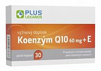 Plus Lekáreň Koenzým Q10 60 mg + Vitamín E 30 cps