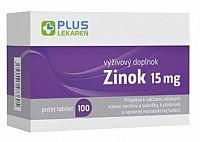 PLUS LEKÁREŇ Zinok 15mg 100 tbl