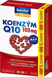 Revital Koenzym Q10 100mg+Selen+Vitamin E 30+30 kapsúl