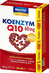 Revital Koenzým Q10 + vitamín E + selén forte 60tbl