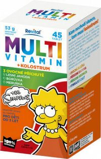 Revital MULTIVITAMÍN + KOLOSTRUM The Simpsons tbl mnd 1x45 ks