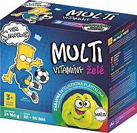 Revital MULTIVITAMÍNY The Simpsons BART želé 2x50 + Darček zábavná plastelína 1x1 set