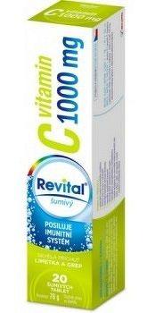 Revital vitamín C 1000 mg šumivé tablety s príchuťou limetky a grepu 1x20 ks