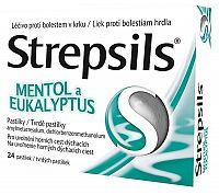 Strepsils Mentol a Eukalyptus 3x8 ks