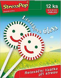 StressPop lízanka proti stresu s príchuťou guava jablka 12 ks