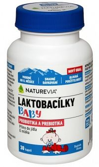SWISS NATUREVIA Laktobacilky Baby 30cps