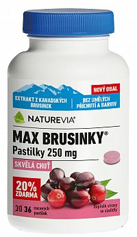 Swiss Naturevia Max Brusnice 250mg 36 pastiliek