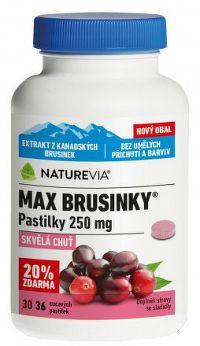 SWISS NATUREVIA MAX BRUSNICE pastilky 250 mg 1x36 ks