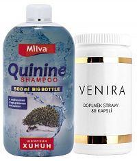 Venira kompexná starostlivosť o vlasy, nechty a pleť, 80 cps+ Milva šampón Chinín BIG 500 ml