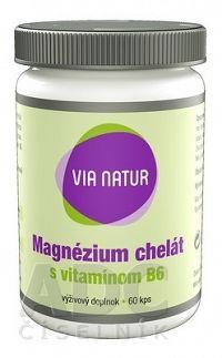 VIA NATUR Magnézium chelát s vitamínom B6 cps 1x60 ks