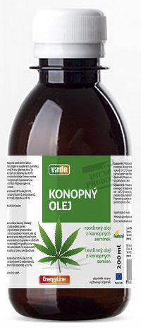 VIRDE KONOPNÝ OLEJ rastlinný olej z konopných semien 200 ml