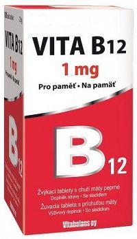 VITA B12 1000 µg žuvacie tablety s príchuťou mäty 30 ks