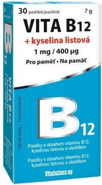 Vitabalans VITA B12 + kyselina listová pastilky 30 ks